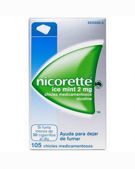Nicorette Icemint 2 mg chicles 105 unidades