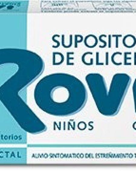 Supositorios de glicerina rovi infantiles 15 unidades