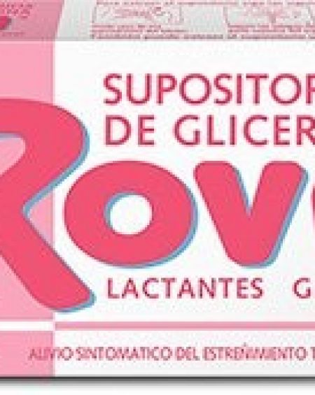 Supositorios de glicerina rovi lactantes 10 unidades