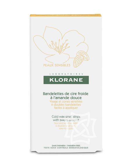 Cera depilatoria en frío rostro / zonas sensibles Klorane