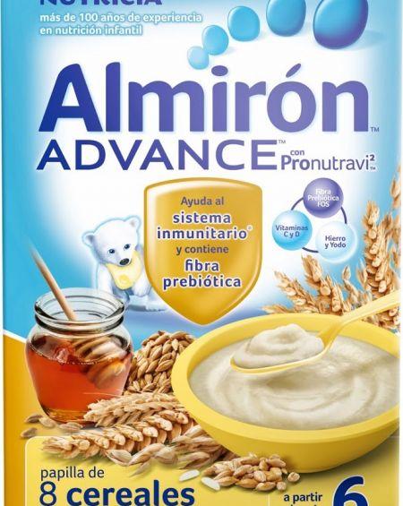 Almirón advance 8 cereales con miel 600gr