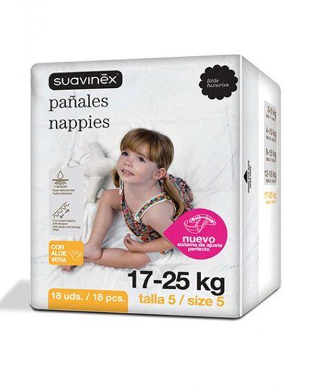 Pañales talla 5 (17-25 kg) 20 uds Suavinex