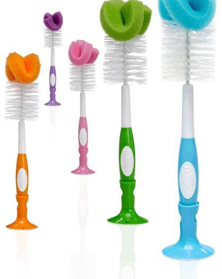 Cepillo limpiabiberón de colores Dr Brown's