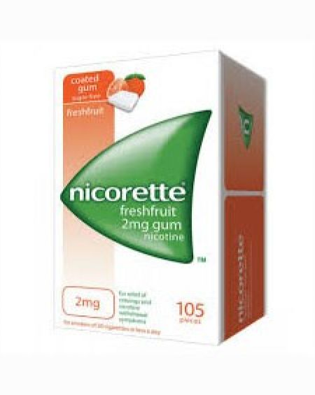 Nicorette Freshfruit 2 mg chicles 105 unidades