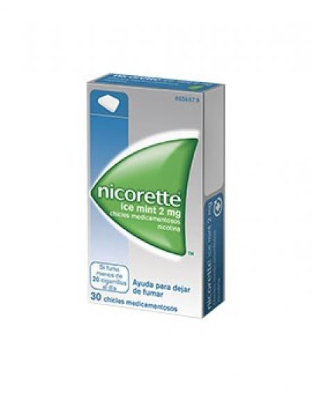 Nicorette Icemint 2 mg chicles 30 unidades