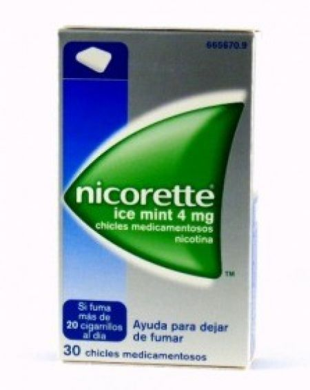 Nicorette Icemint 4 mg chicles 30 unidades