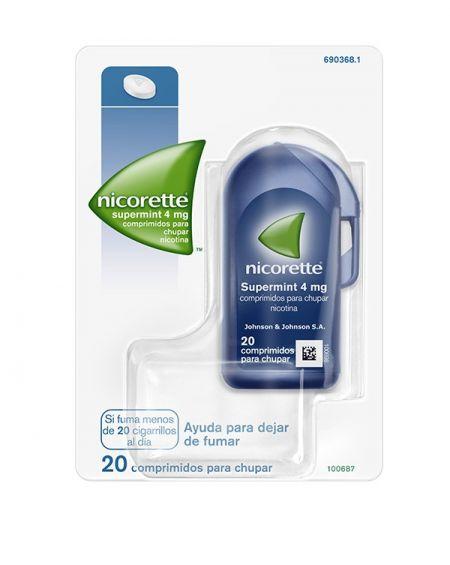 Nicorette Supermint 4 mg 20 comprimidos para chupar