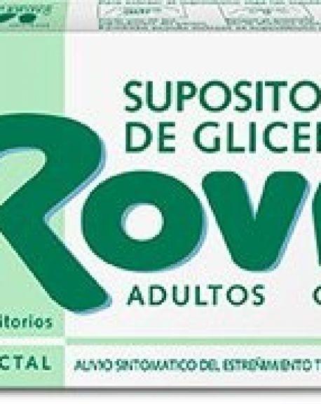 Spositorios de glicerina rovi adultos 12 unidades