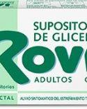 Supositorios de glicerina rovi adultos 12 unidades