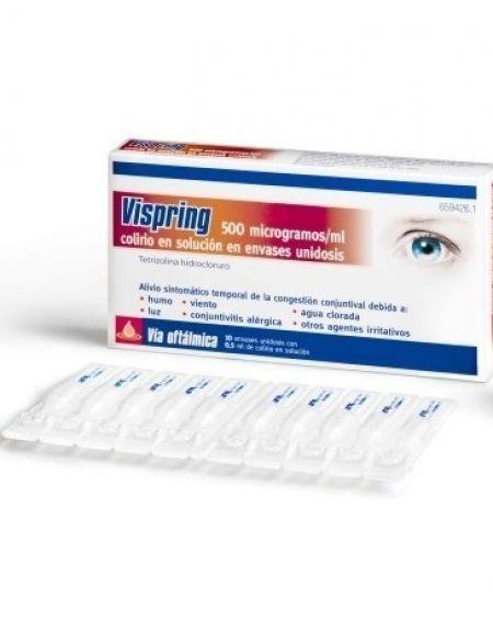 Vispring colirio unidosis 10 viales