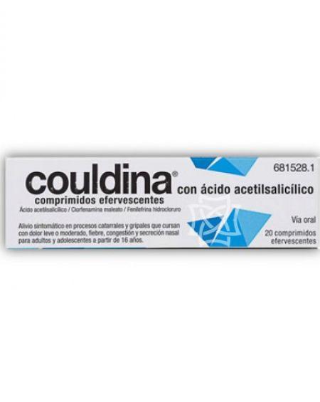 Couldina con ácido acetilsalicilico 20 comprimidos