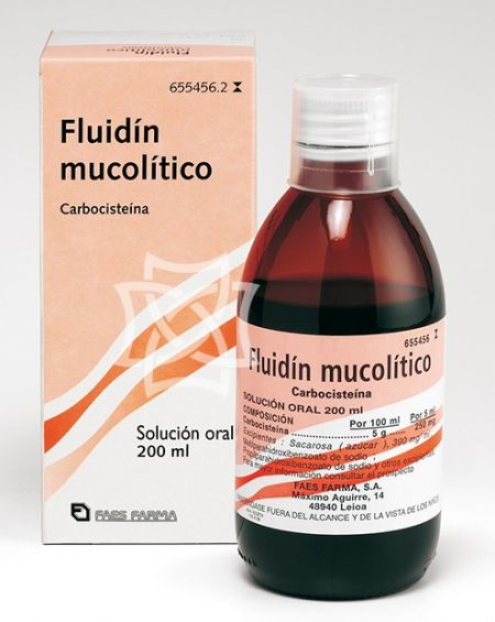 FLUIDIN MUCOLITICO 250 MG/5 ML SOLUCION ORAL 200 ML