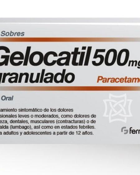 Gelocatil 500 mg 12 sobres