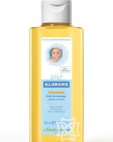 Aceite de masaje de Caléndula Klorane bebé