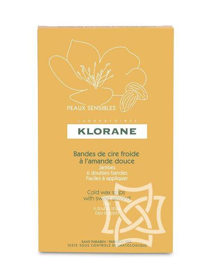 Bandas de cera fría a la almendra dulce nutritiva Klorane