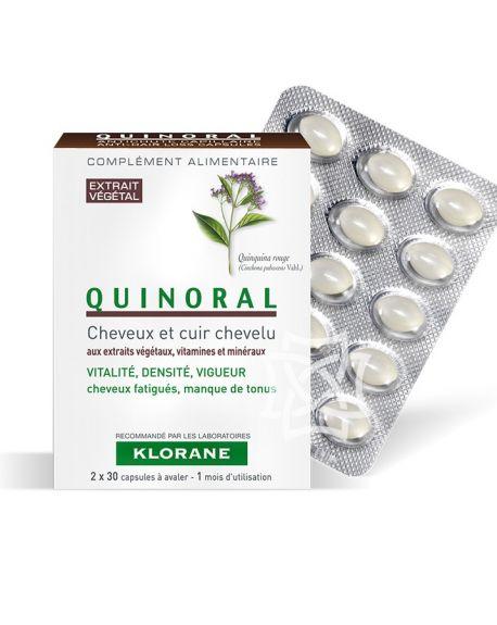 Quinoral Complemento Alimenticio - Cabello y cuero cabelludo de Klorane