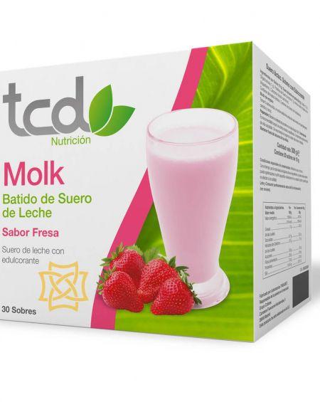 Molk batido de suero de leche sabor fresa