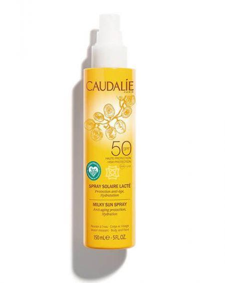 Spray solar lácteo spf 50 de caudalíe