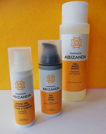 Pack Regalo de Aseo para Hombre Abizanda, (gel-champú, crema y contorno de ojos)