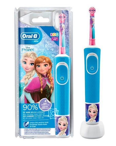 Cepillo Dental Eléctrico Infantil FROZEN ORAL-B STAGES +3 Años suave.