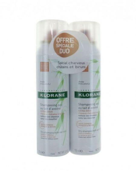 Champú seco extra-suave de avena 150 ml de Klorane duplo cabello moreno