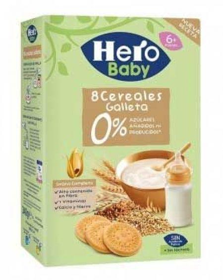 Papilla 8 Cereales sin Gluten  Hero 340gr