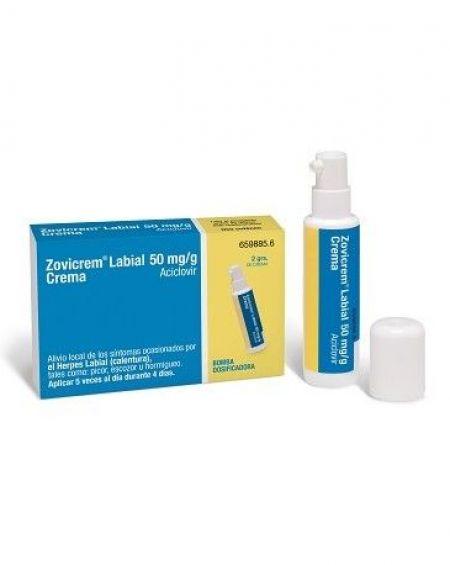 Zovicrem labial 2 gr con bomba dosificadora