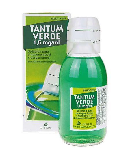Tantum Verde 1,5 mg/ml Solución para gargarismos y enjuague bucal.