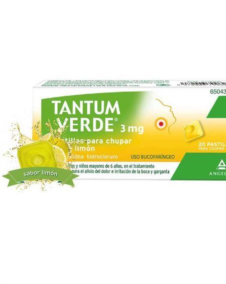 Tantum Verde 3 mg Pastillas para chupar sabor Limón.
