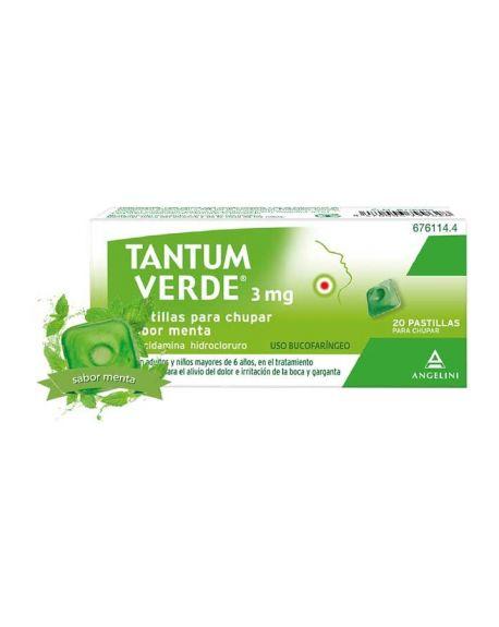 Tantum Verde 3 mg Pastillas para chupar sabor Menta.