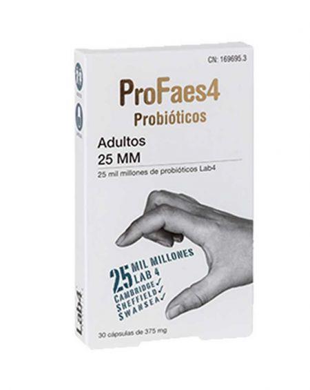 Profaes4 Probiotico Adultos  25 MM (Milmillones) 30 Cápsulas
