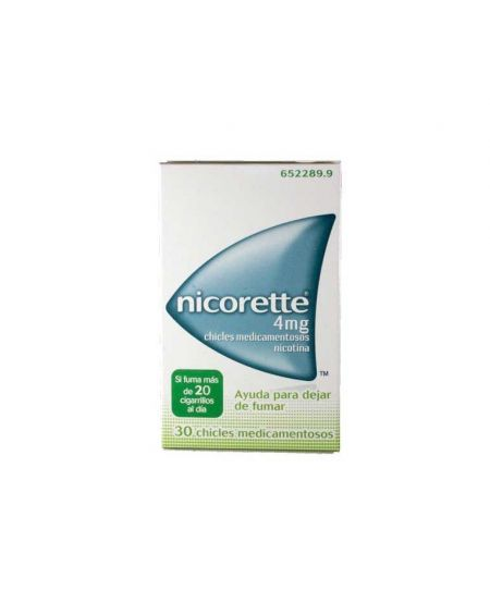 Nicorette 4 mg chicles 30 unidades