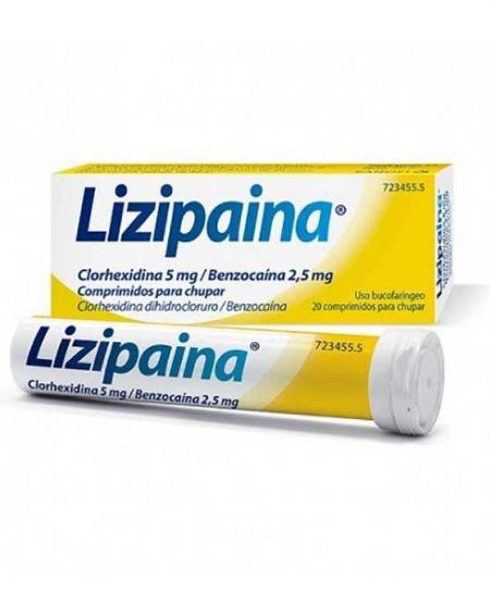 LIZIPAINA CLORHEXIDINA 5 MG/BENZOCAINA 2,5 MG COMPRIMIDOS PARA CHUPAR
