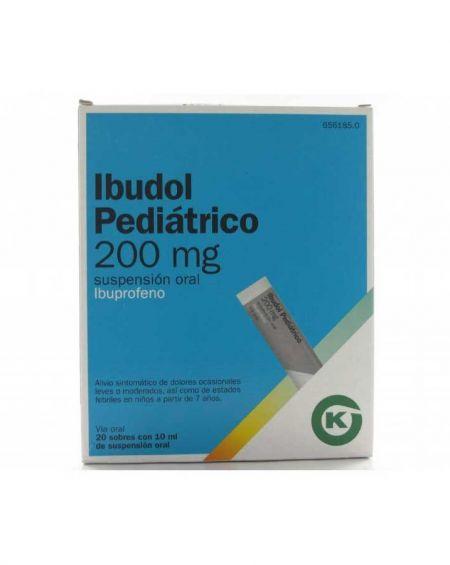 IBUDOL PEDIÁTRICO 200 MG 20 SOBRES SUSPENSIÓN ORAL