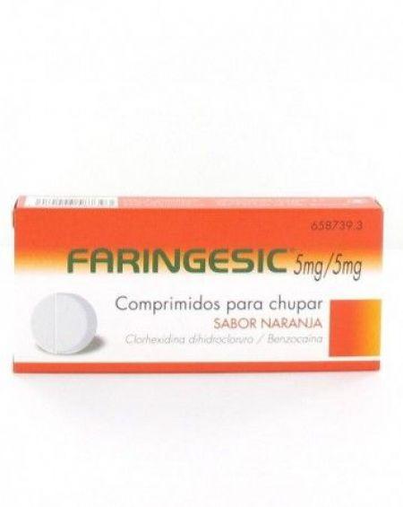 FARINGESIC 5 mg/5 mg 20 Comprimidos para chupar sabor Naranja
