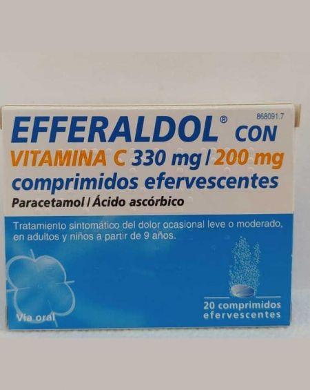EFFERALDOL CON VITAMINA C 330MG/200MG COMPRIMIDOS EFERVESCENTES