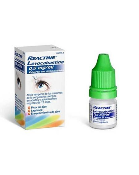 REACTINE LEVOCABASTINA 0.5 MG/ML COLIRIO 1 FRASCO SUSPENSION 4 ML