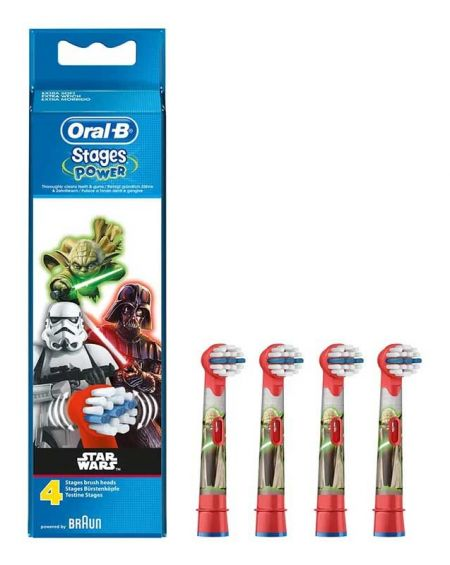 Cabezal Recambio Cepillo Eléctrico Infantil Oral-B Stages Power Star Wars 4 unidades