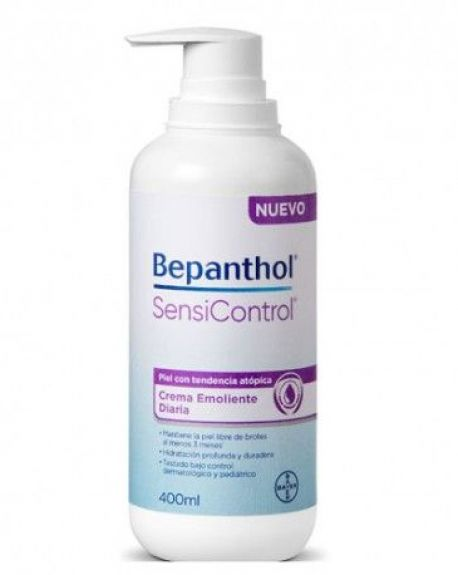 Bepanthol Sensicontrol Crema Emoliante Diaria Piel Atópica 400 ml