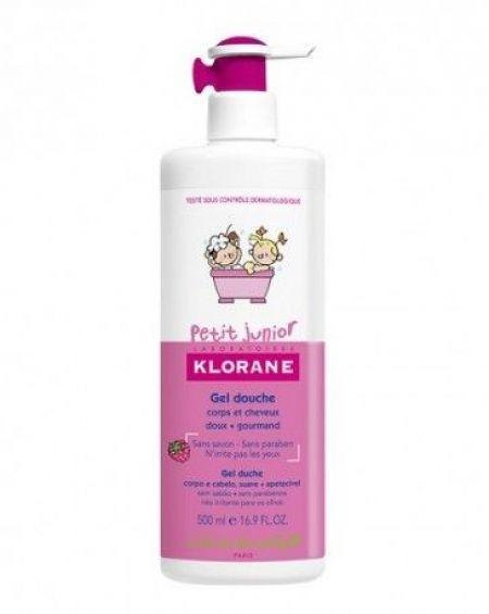 Klorane Petit junior Gel de Ducha Cuerpo y Cabello-Frambuesa  500 ml