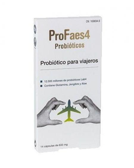 Profaes4 Probiotico para viajeros 14 cápsulas