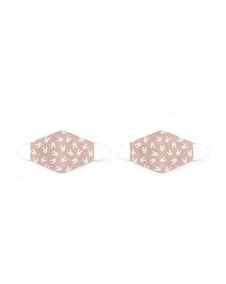Mascarillas reutilizables de tela de 6 a 10 años Hygge rosa de Suavinex 2 unidades