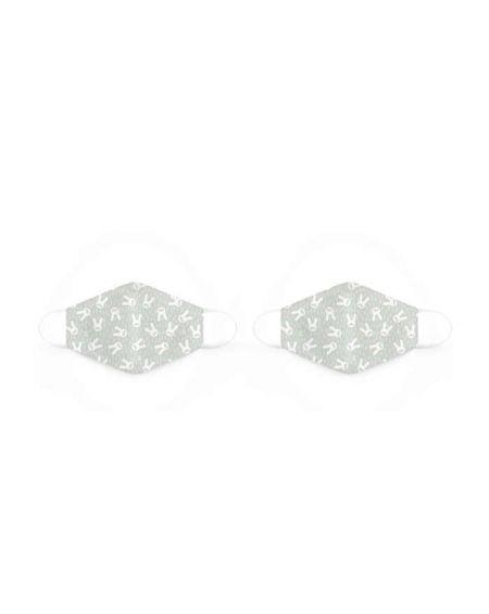 Mascarillas reutilizables de tela de 6 a 10 años Hygge verde de Suavinex 2 unidades