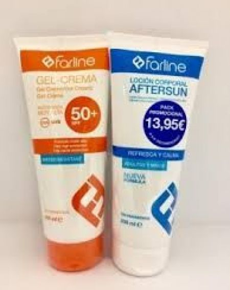 Farline Pack Gel-Crema SPF50 200ml + Aftersun 200 ml