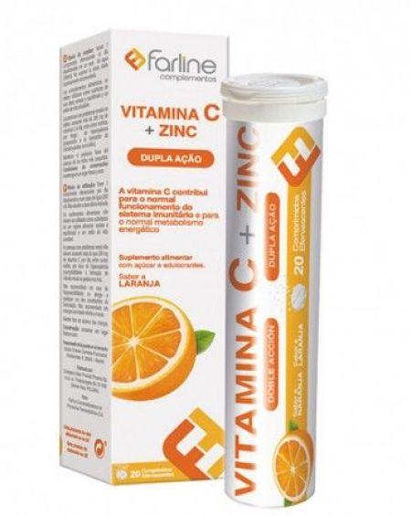 Farline Vitamina C y Zinc 20 Comprimidos