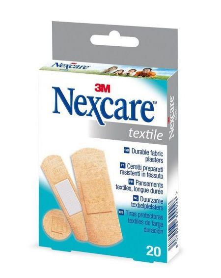 Tiras tela Nexcare Textil 20 unid (surtidas)