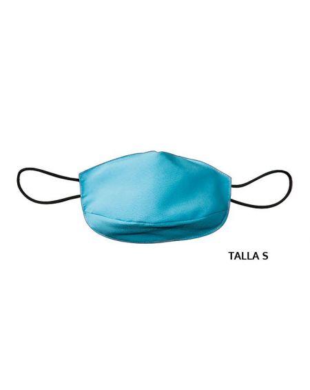 Mascarilla de tela adulto reutilizable 50 usos. Talla S Azul claro
