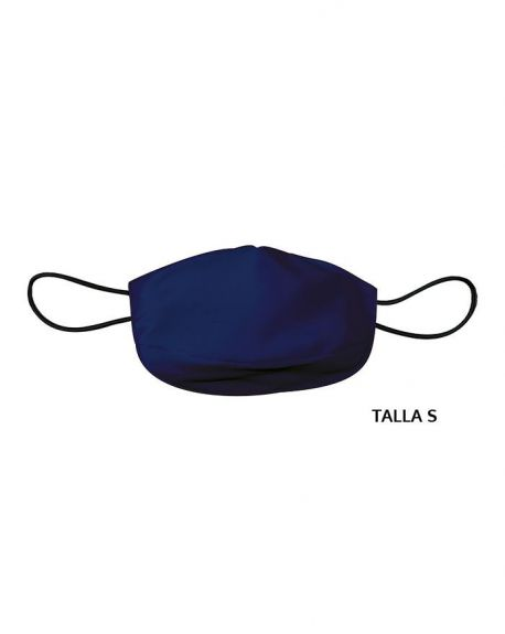 Mascarilla de tela adulto reutilizable 50 usos. Talla S Azul marino