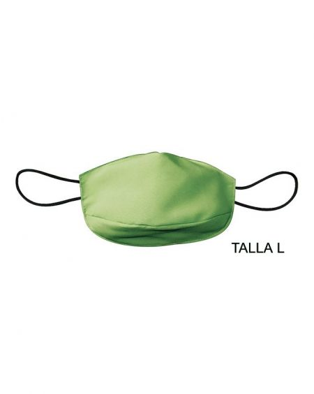 Mascarilla adulto de tela reutilizable 50 usos. Talla L Pistacho
