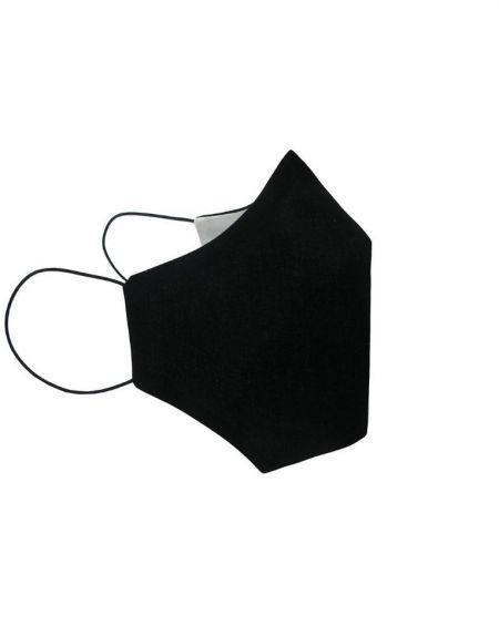 Pack 4 Mascarillas Negras de  Tela Adulto Unisex . talla S/M .20 Usos Homologada.